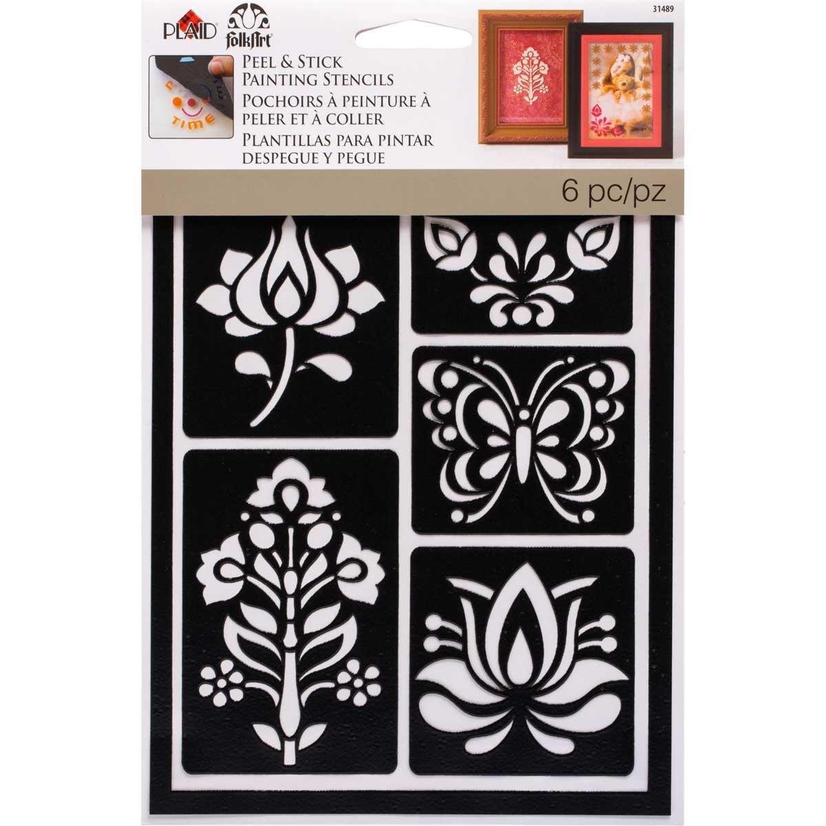FolkArt ® Peel & Stick Painting Stencils - Folkloric