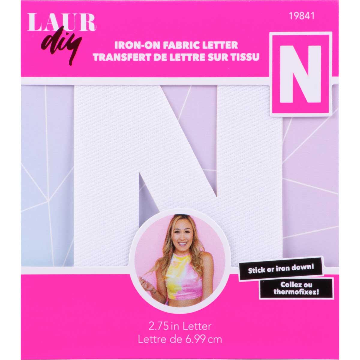 LaurDIY ® Iron-on Fabric Letters - N
