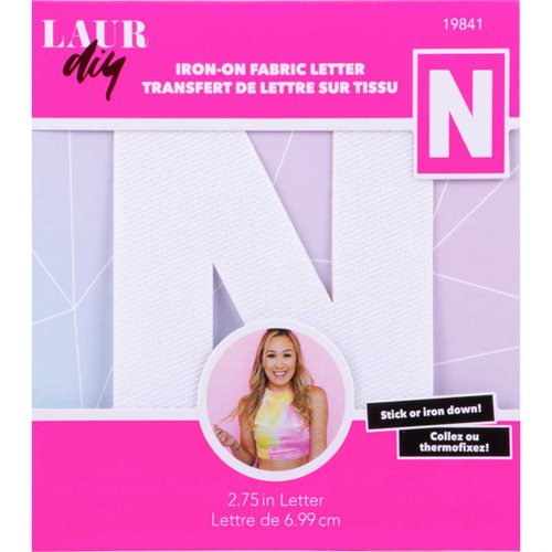 LaurDIY ® Iron-on Fabric Letters - N