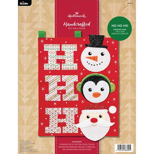Bucilla ® Seasonal - Felt - Home Decor - Hallmark - Ho Ho Ho Wall Hanging