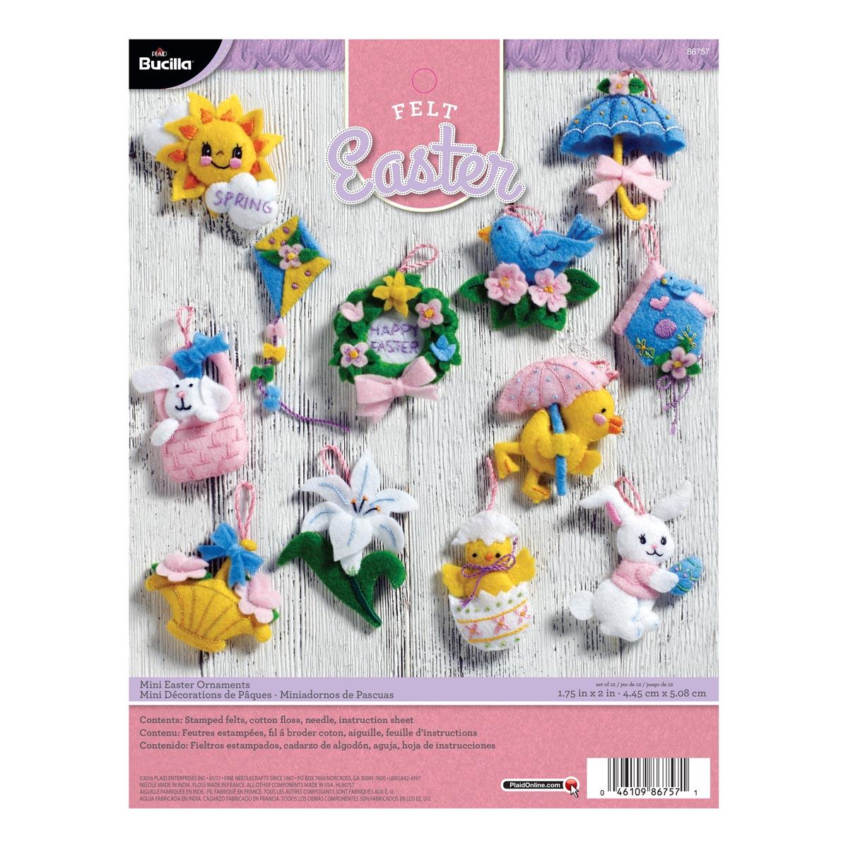 Bucilla ® Seasonal - Felt - Ornament Kits - Easter