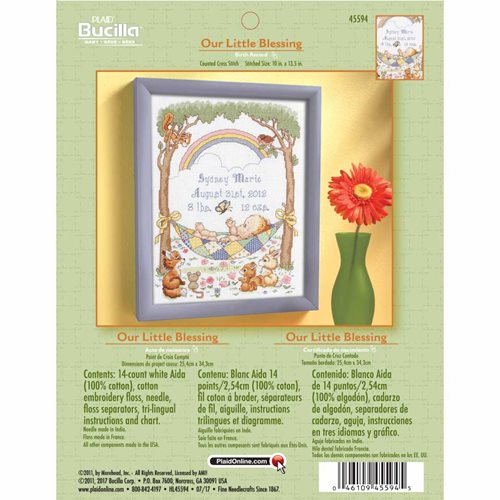 Bucilla ® Baby - Counted Cross Stitch - Crib Ensembles - Our Little Blessing - Birth Record Kit