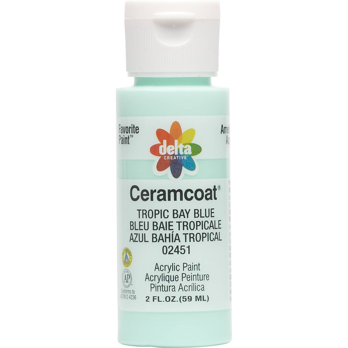Delta Ceramcoat ® Acrylic Paint - Tropic Bay Blue, 2 oz.