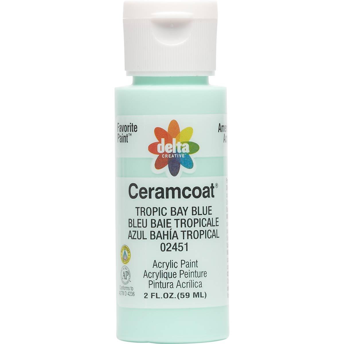 Delta Ceramcoat ® Acrylic Paint - Tropic Bay Blue, 2 oz. - 024510202W