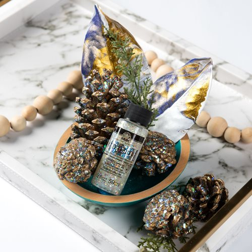Sparkling Pinecone Decor DIY