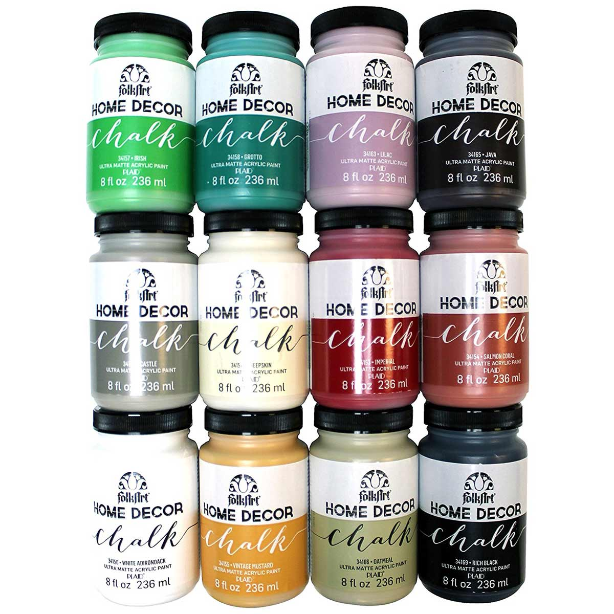 FolkArt ® Home Decor™ Chalk 12 Color Set
