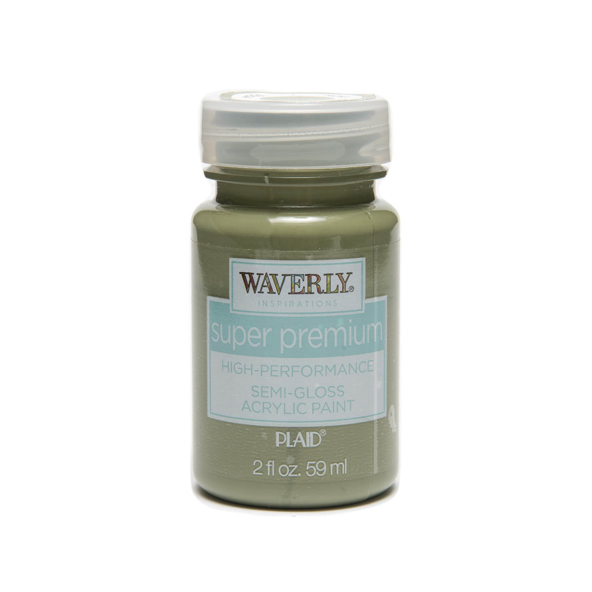 Waverly ® Inspirations Super Premium Semi-Gloss Acrylic Paint - Moss, 2 oz. - 60629E