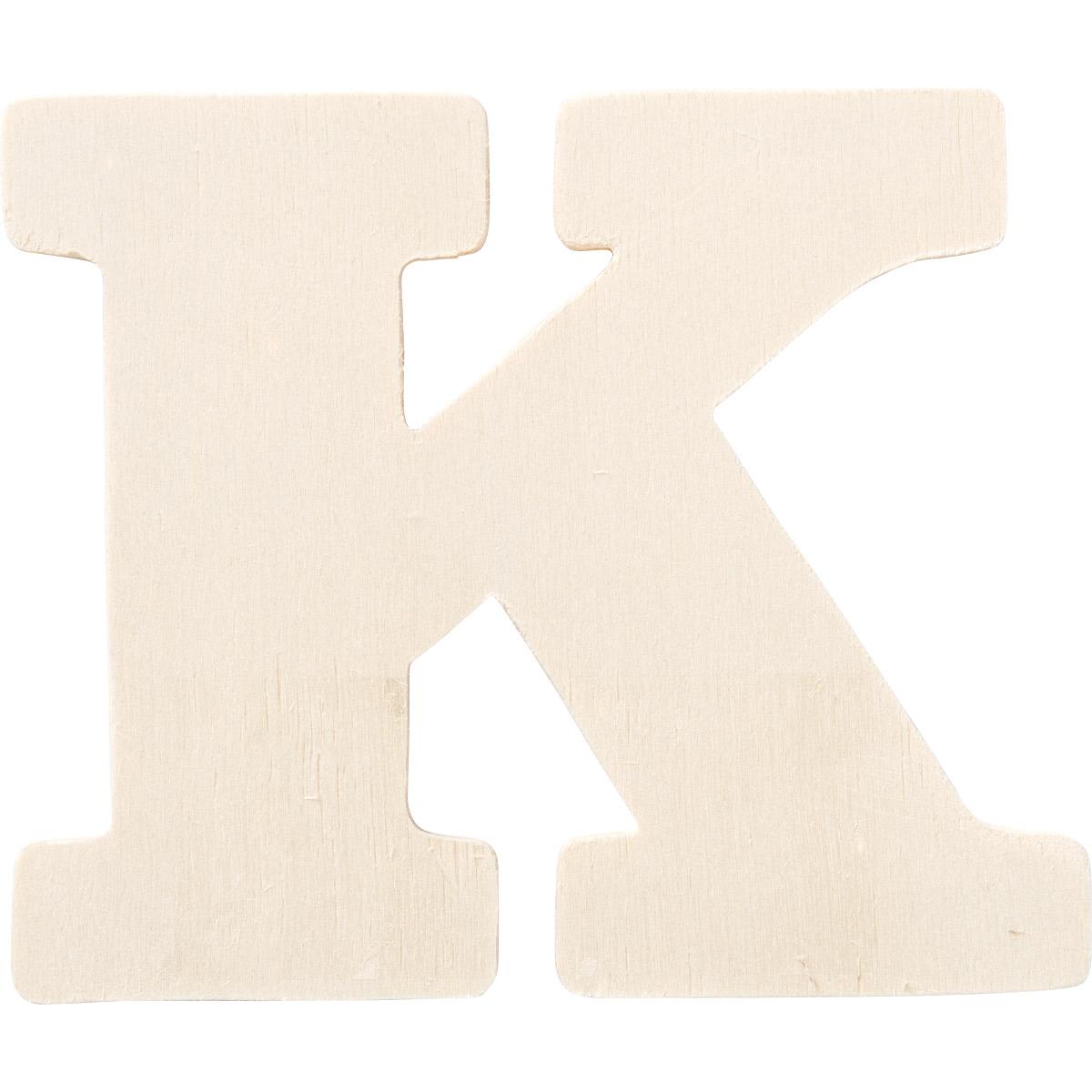 Plaid ® Painter's Palette™ Wood Letter - K. 4 inch