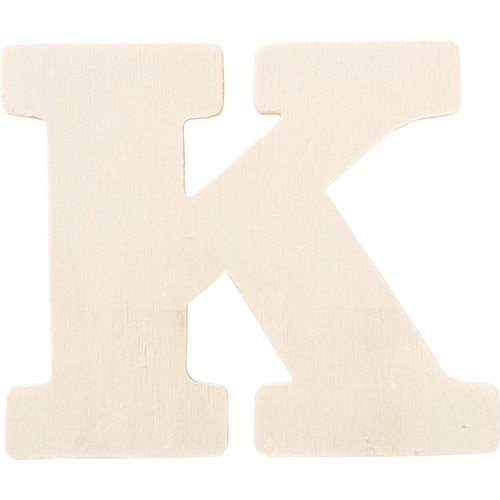 Plaid ® Painter's Palette™ Wood Letter - K. 4 inch - 23875