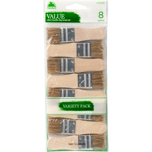 Apple Barrel ® Brush Sets - Short Handle Chip Set, 8 pc. - 44352E