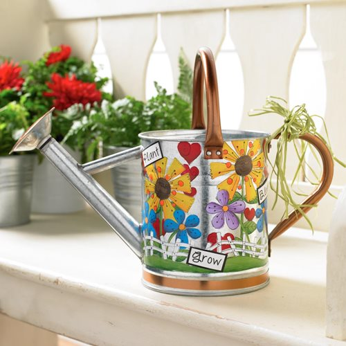 Bright and Colorful Watering Can