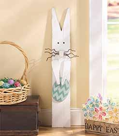 Rustic Homemade Easter Bunny Yard Art