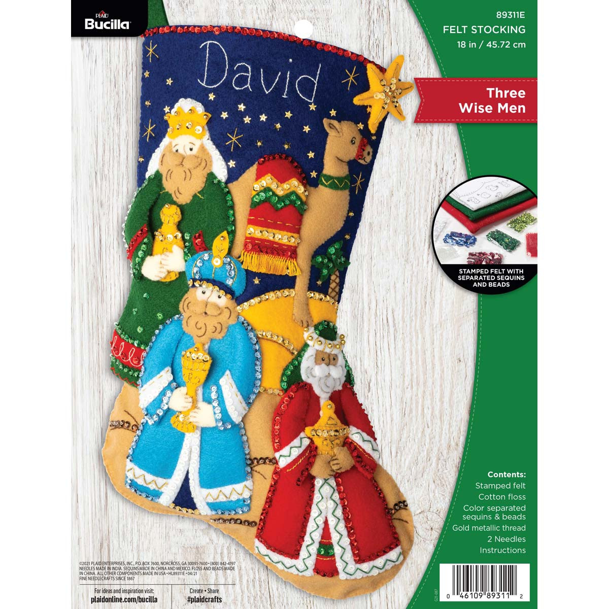 Bucilla ® Seasonal - Felt - Stocking Kits - Three Wisemen - 89311E