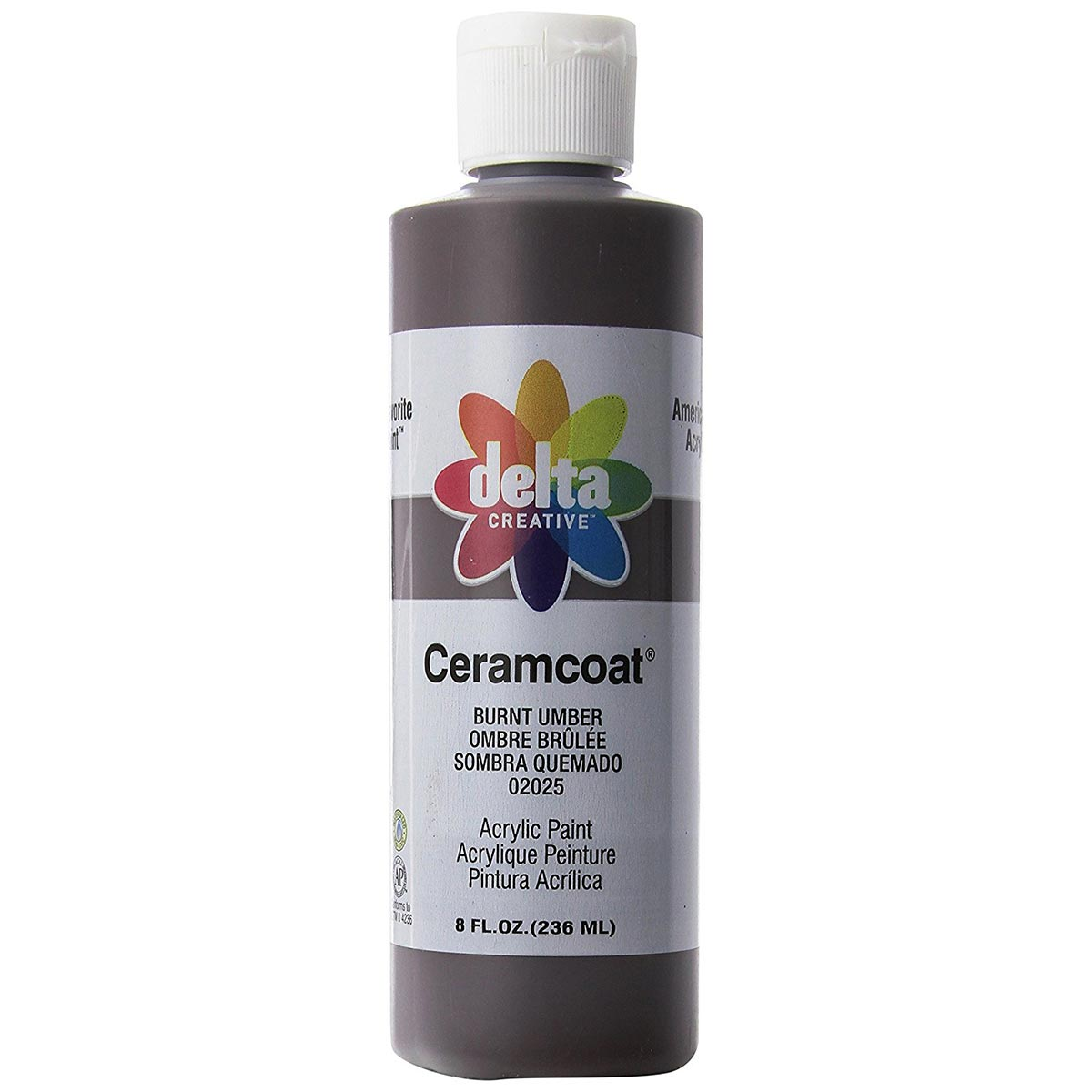 Delta Ceramcoat ® Acrylic Paint - Burnt Umber, 8 oz. - 020250802W