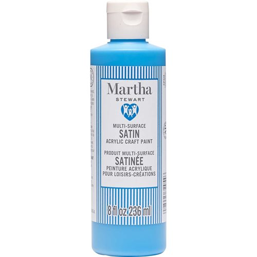 Martha Stewart ® Multi-Surface Satin Acrylic Craft Paint CPSIA - Fish Tank Blue, 8 oz. - 72954