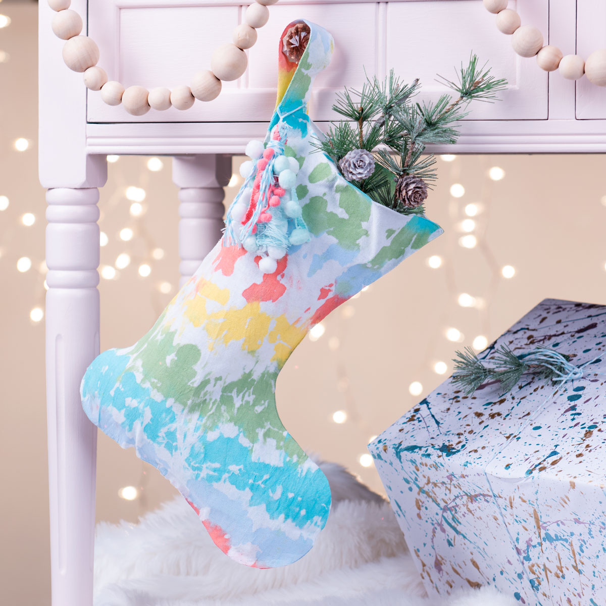DIY Tie Dye Stocking