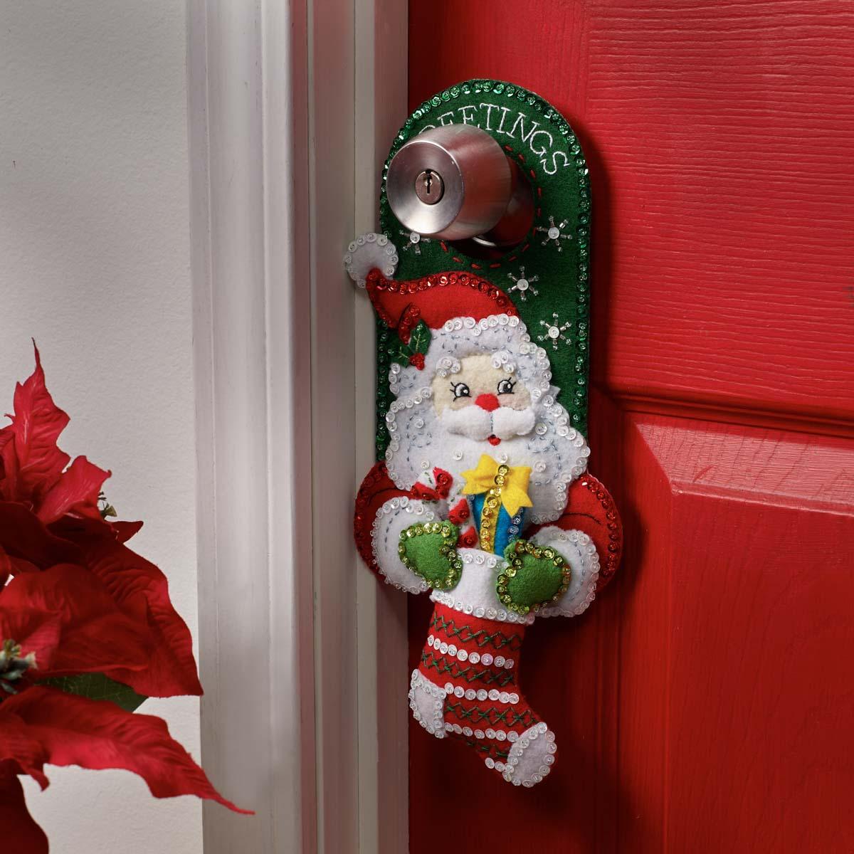 Bucilla ® Seasonal - Felt - Home Decor - Door Hangers - Christmas Greetings - 89286E