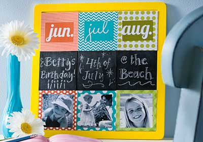 Summer Calendar Tile Board