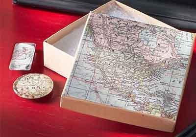 Mod Podge Map Magnets