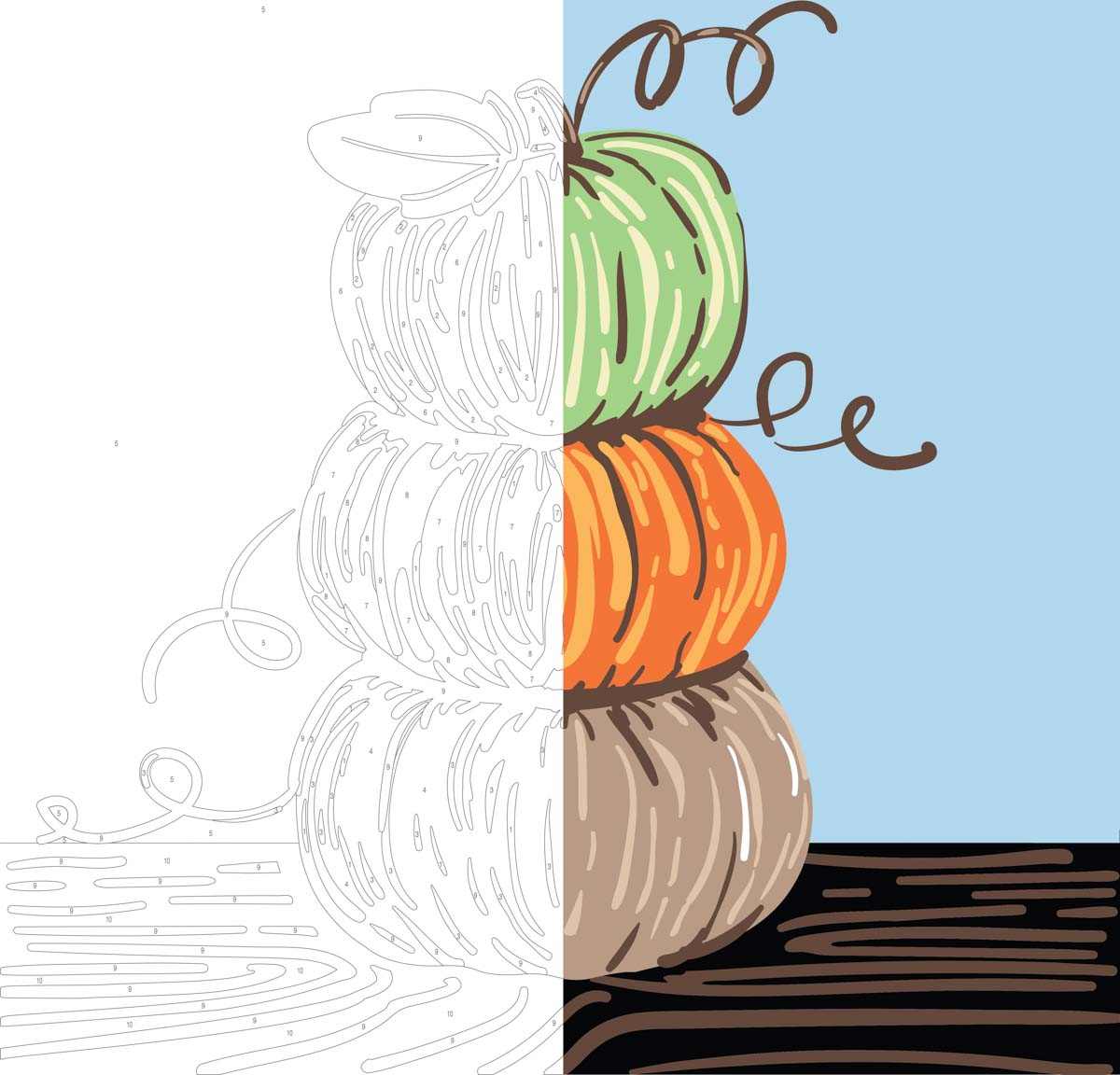 Plaid ® Let's Paint™ Modern Paint-by-Number - Pumpkin Stack - 17926