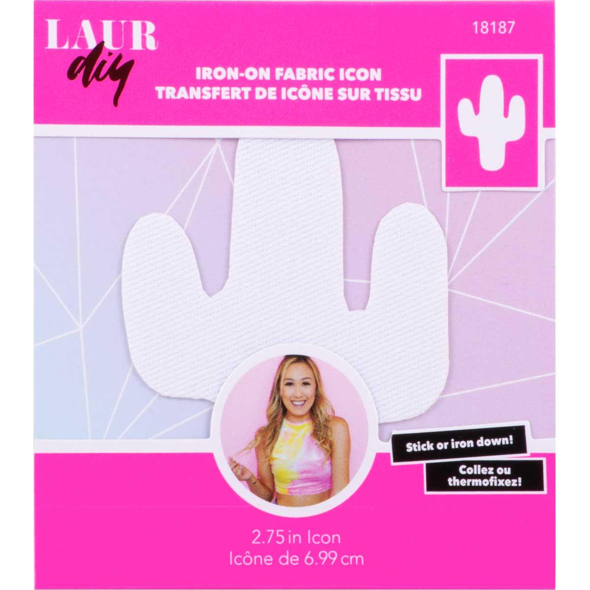 LaurDIY ® Iron-on Fabric Letters - Cactus