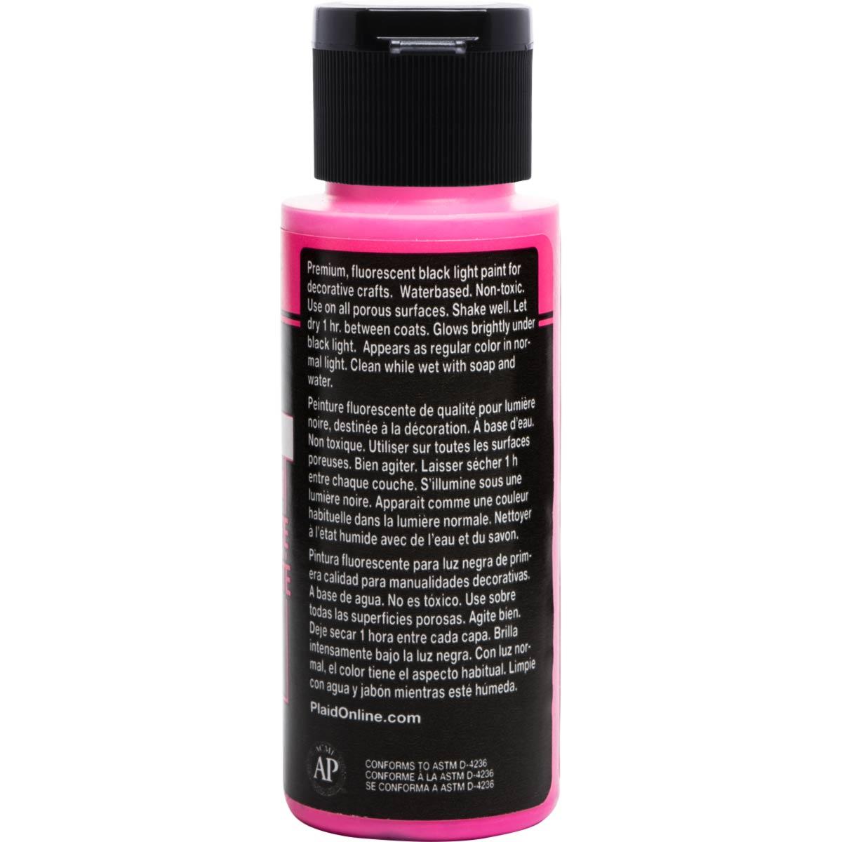 FolkArt ® Acrylic Colors - Fluorescent Glow - Pink, 2 oz. - 2717