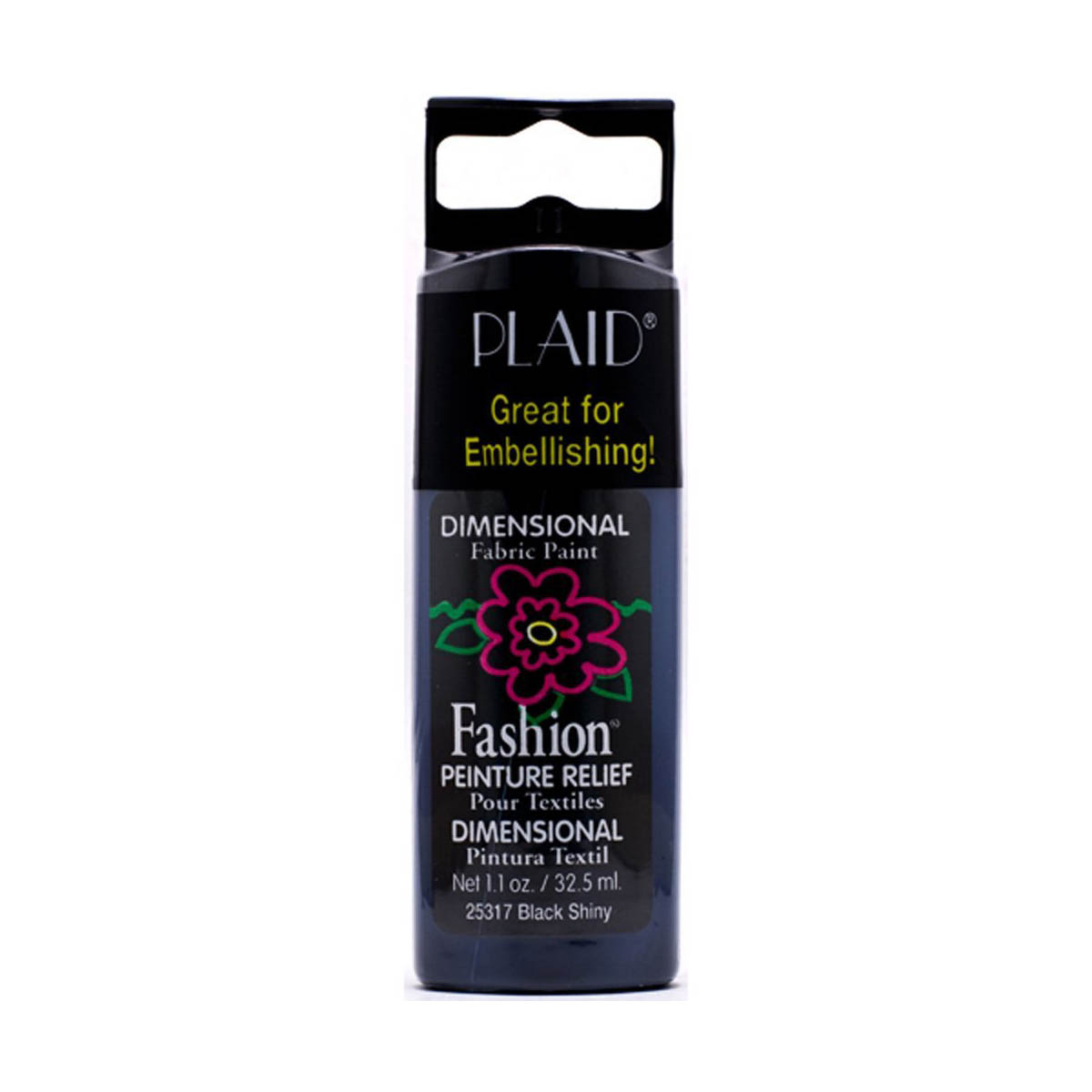 Fashion ® Dimensional Fabric Paint  - Shiny - Black - 25317