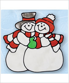 Winter Snowmen Cling