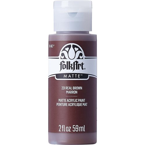 FolkArt ® Acrylic Colors - Real Brown, 2 oz.