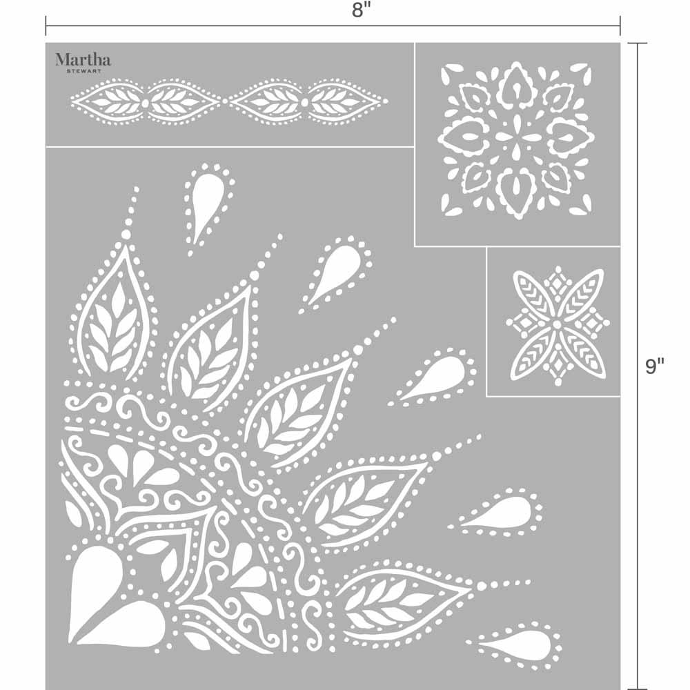 Martha Stewart ® Adhesive Silkscreen - Mandala - 5637