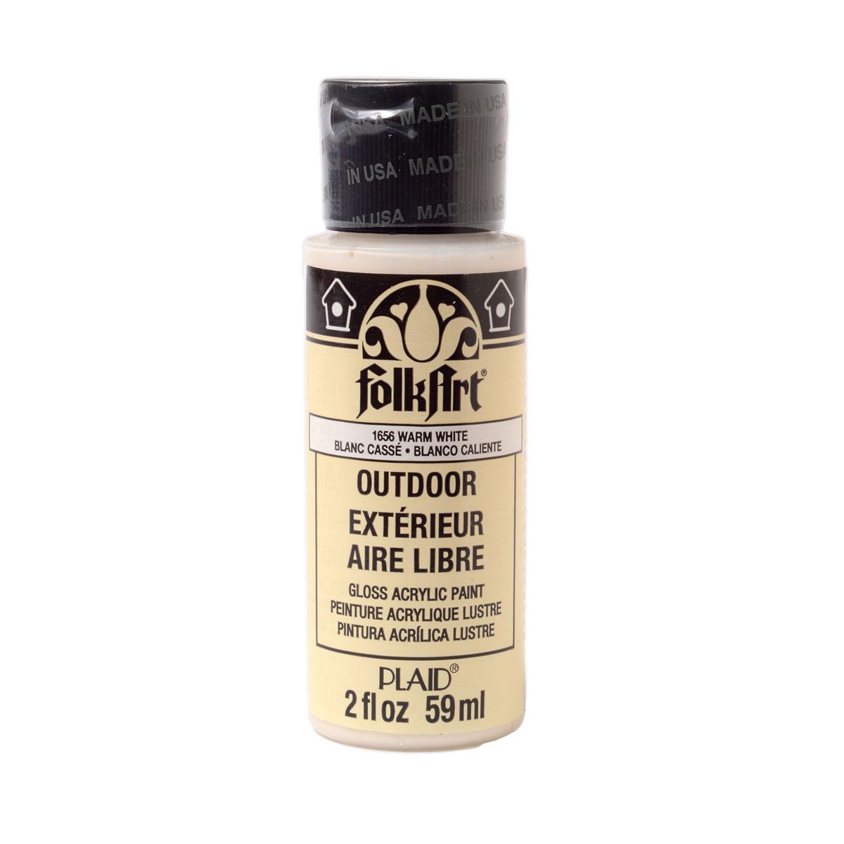FolkArt ® Outdoor™ Acrylic Colors - Warm White, 2 oz. - 1656