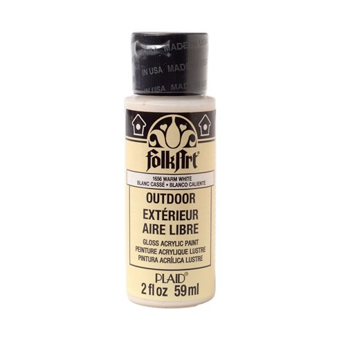 FolkArt ® Outdoor™ Acrylic Colors - Warm White, 2 oz.
