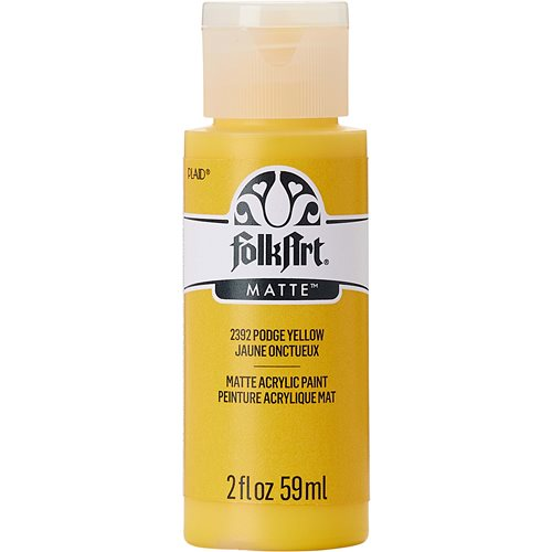 FolkArt ® Acrylic Colors - Podge Yellow, 2 oz. - 2392