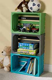 DIY Storage Crates for Playroom
