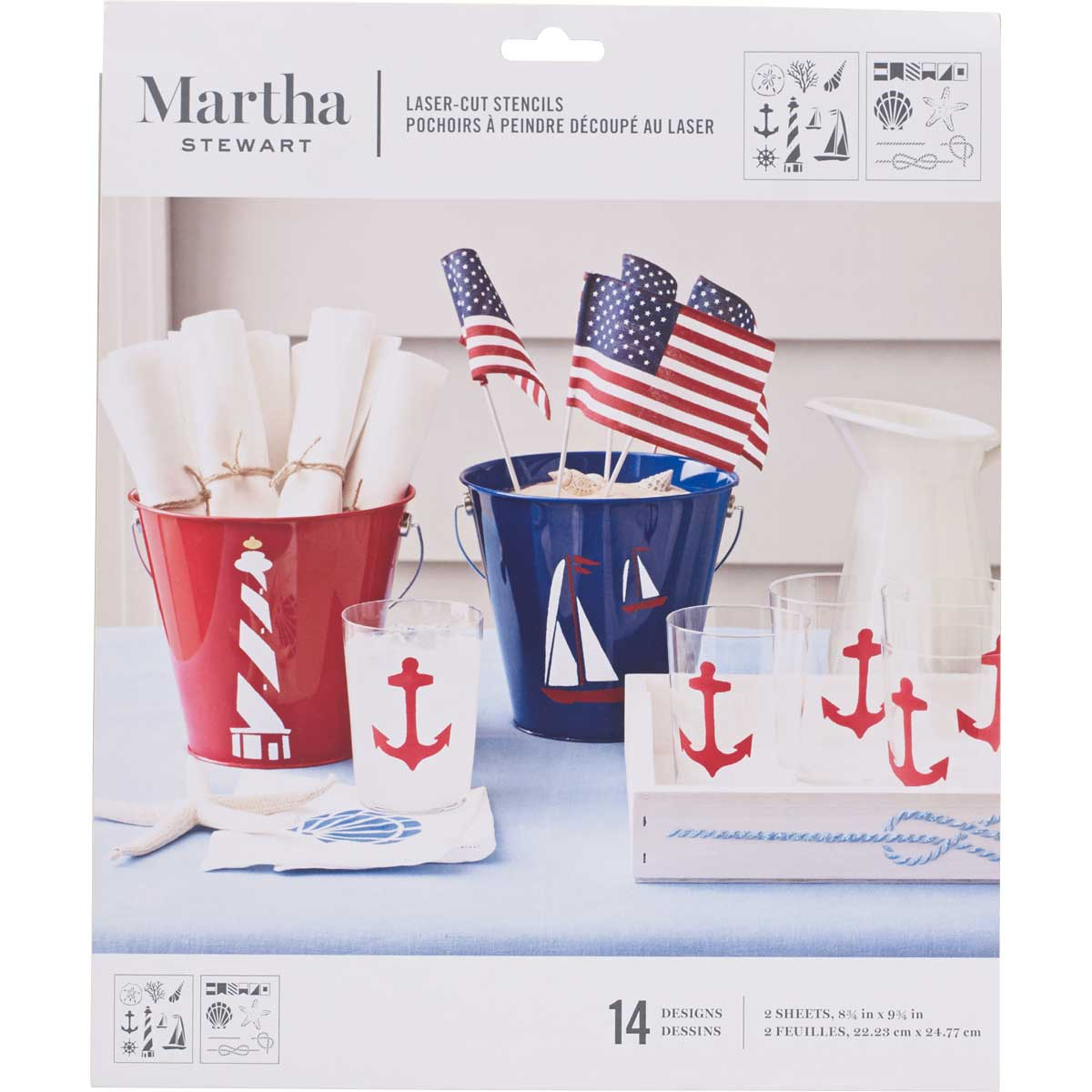 Martha Stewart® Nautical Study Laser-Cut Stencils