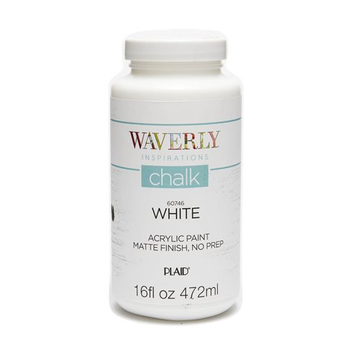 Waverly ® Inspirations Chalk Finish Acrylic Paint - White, 16 oz. - 60746E