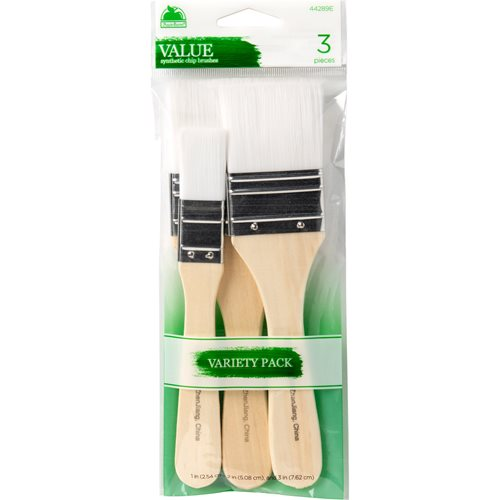 Plaid ® Brush Sets - White Nylon Chip Set - 44289