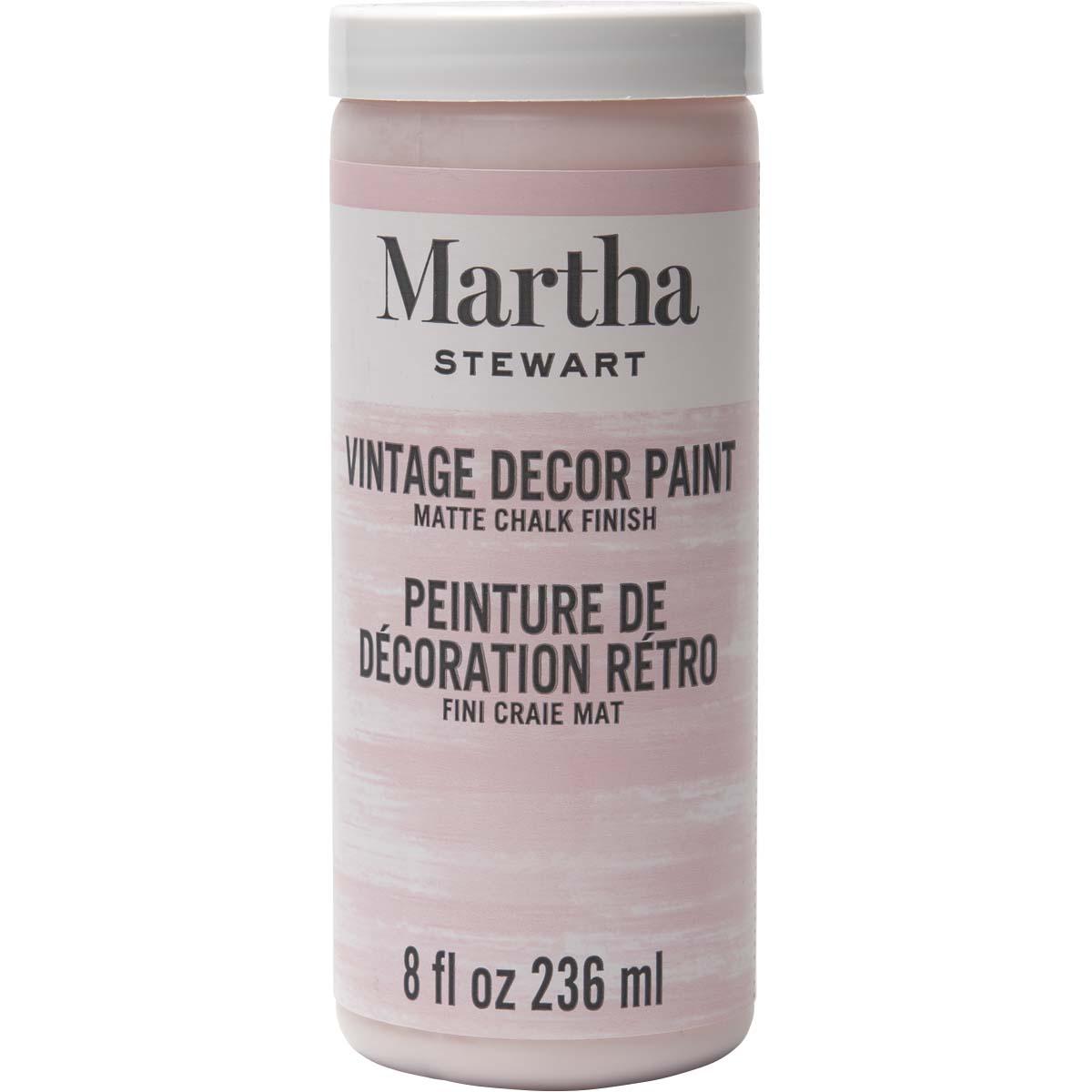 Martha Stewart® 8oz Vintage Décor Matte Chalk Acrylic Paint - Seashell