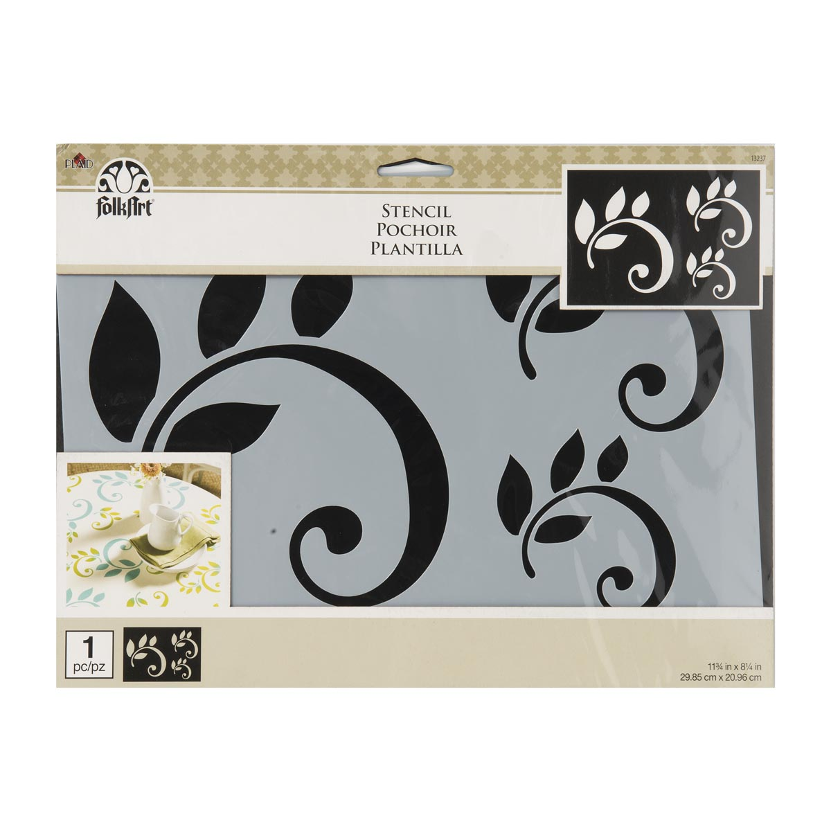 FolkArt ® Painting Stencils - Leaf Scroll Motif - 13237