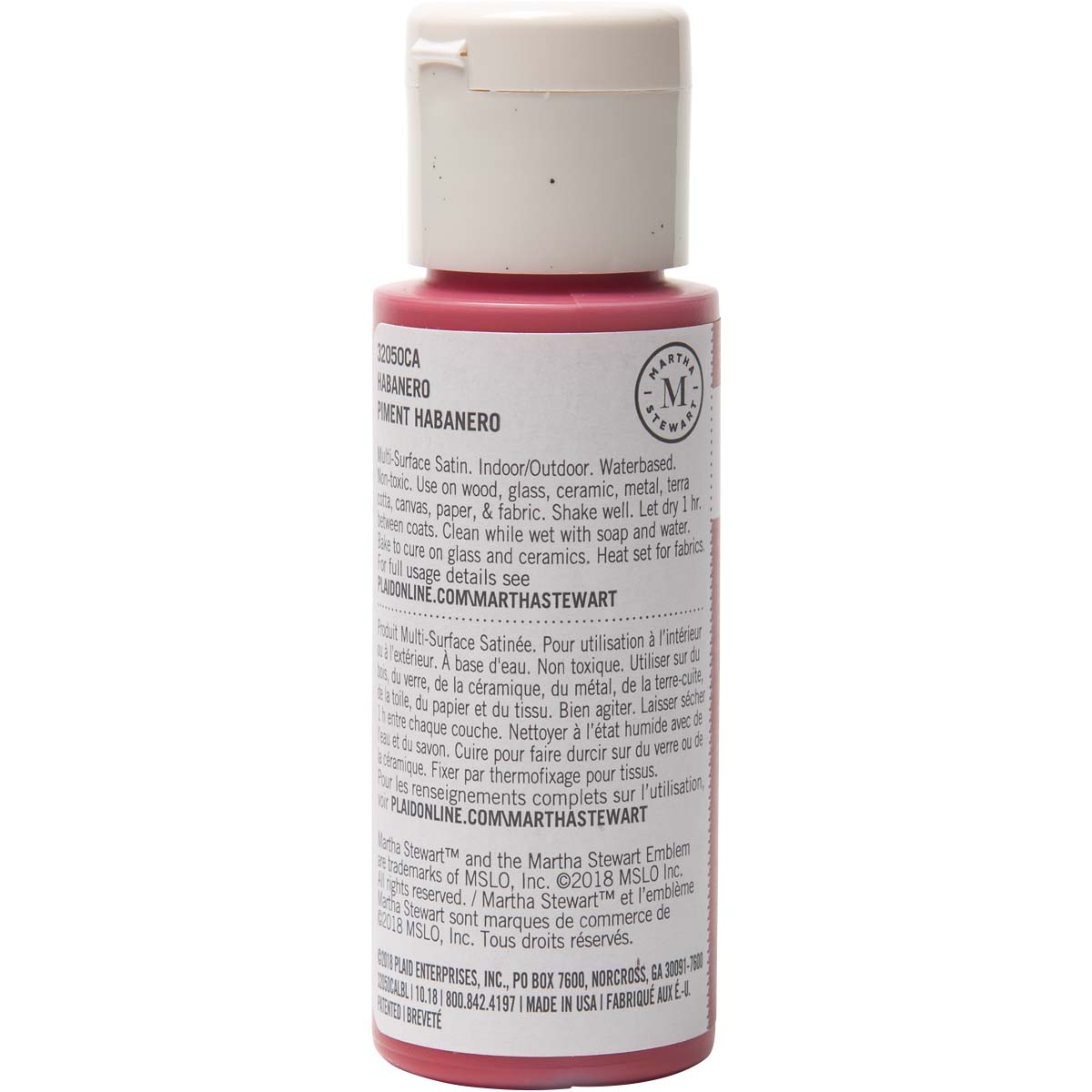 Martha Stewart ® Multi-Surface Satin Acrylic Craft Paint - Habanero, 2 oz.