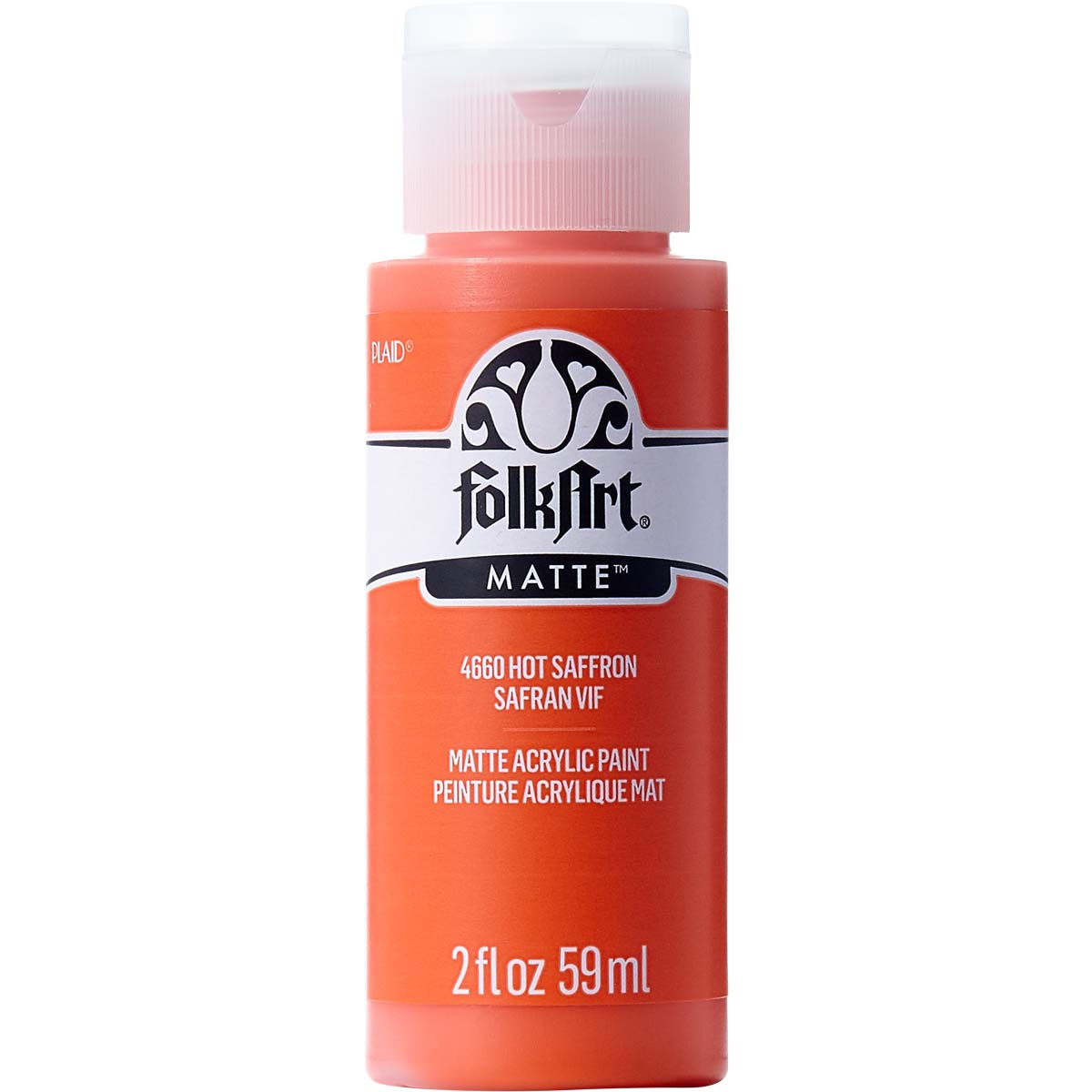 FolkArt ® Acrylic Colors - Hot Saffron, 2 oz.