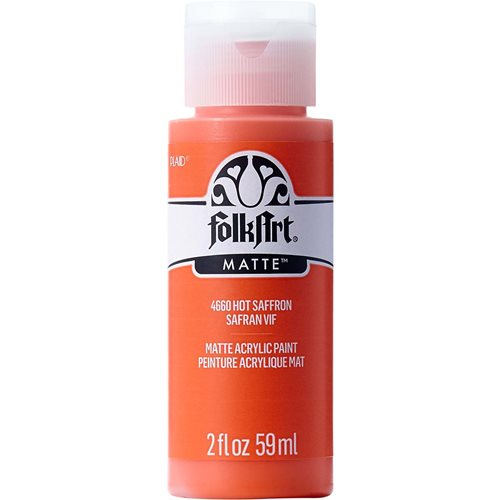 FolkArt ® Acrylic Colors - Hot Saffron, 2 oz. - 4660