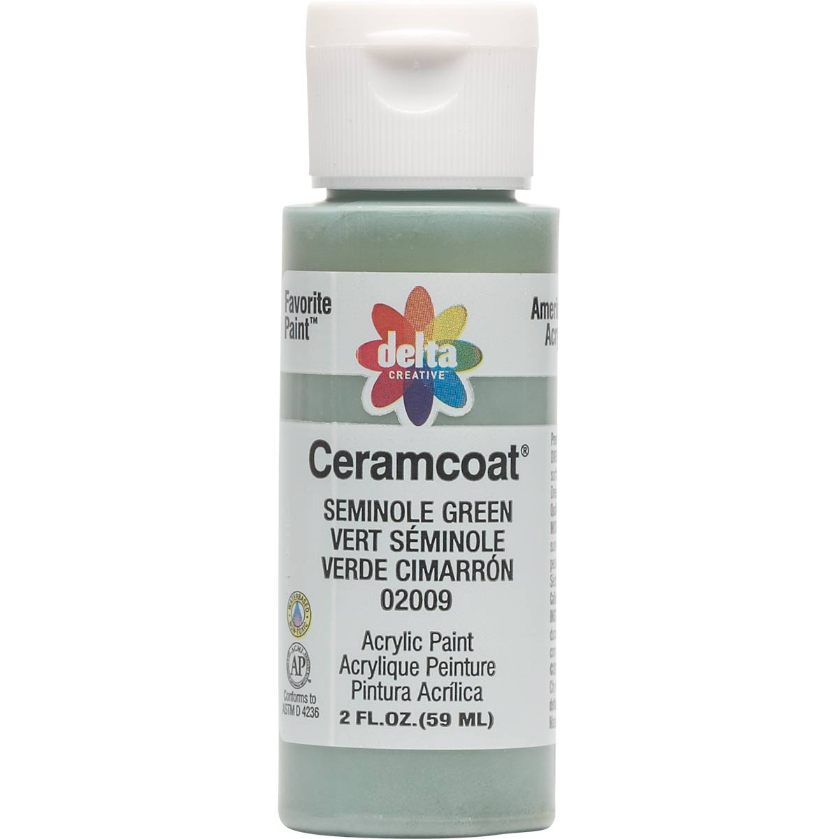 Delta Ceramcoat ® Acrylic Paint - Seminole Green, 2 oz. - 020090202W