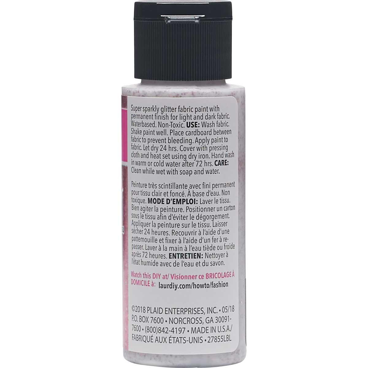 LaurDIY ® Galaxy Glitter Fabric Paint - Nebula, 2 oz.