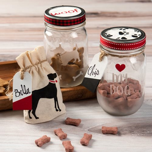 DIY Pet Gifts - Treat Jars and Canvas Bag