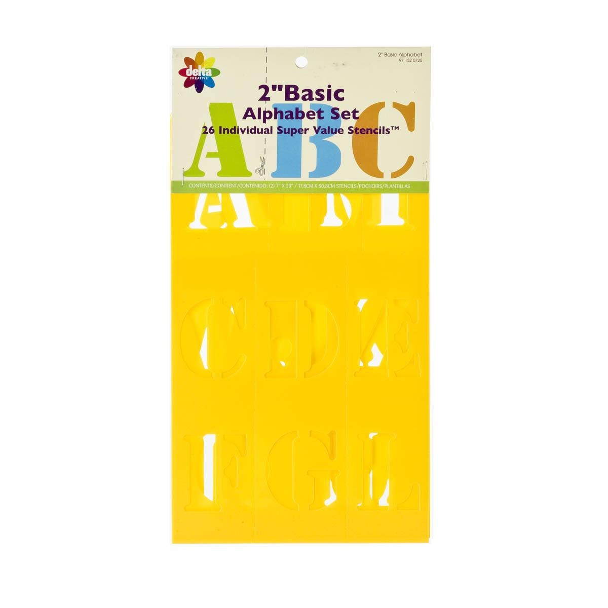 Delta Stencils - Alphabet - Basic, 2