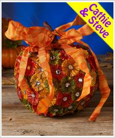 Country Flowers Pumpkin