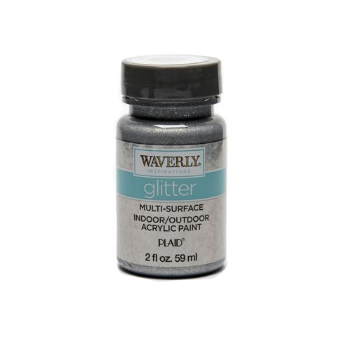 Waverly ® Inspirations Glitter Multi-Surface Acrylic Paint - Silver, 2 oz.