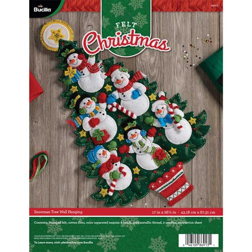 Bucilla ® Seasonal - Felt - Home Decor - Snowman Tree Wall Hanging - 86913