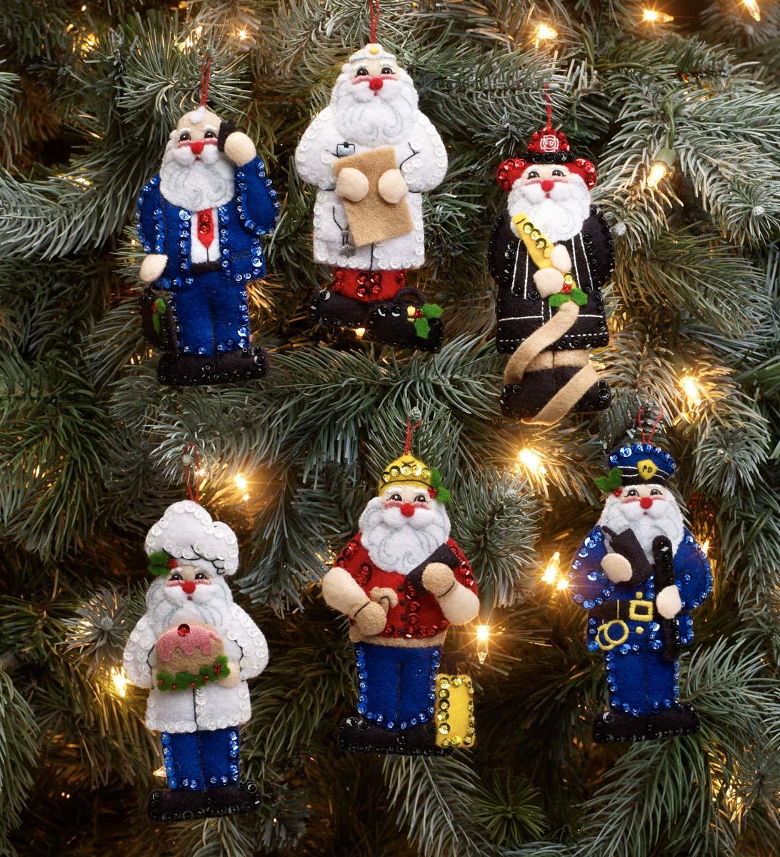 Bucilla ® Seasonal - Felt - Ornament Kits - Nick of All Trades- 89387E